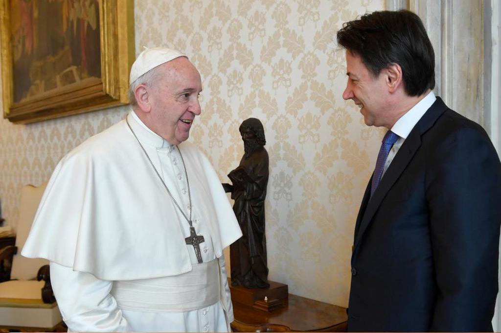 Papa Francesco e Presidente Conte